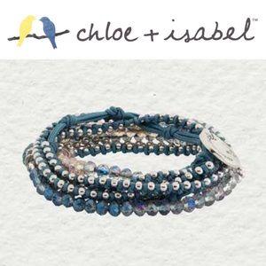 🆕 Delicate Bead + Chain Multi Wrap c+i B336BLSR